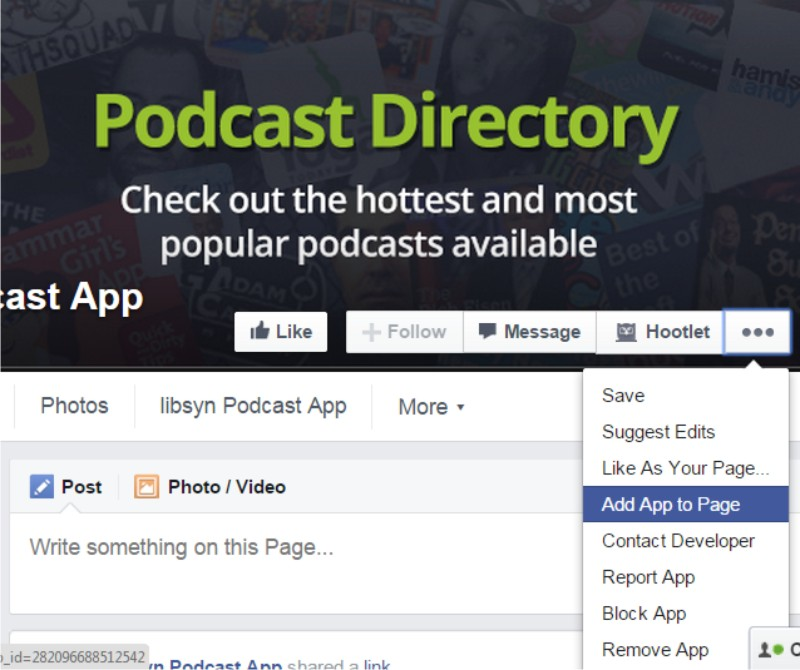 add podcast episodes to facebook