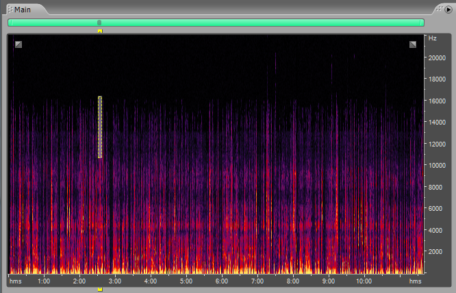Frequency Spectrum Analysis Adobe Audition Clicks Pops and Smacks Recording 6