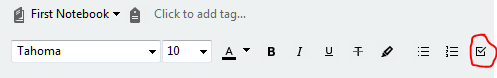 evernote checkbox todo checklist